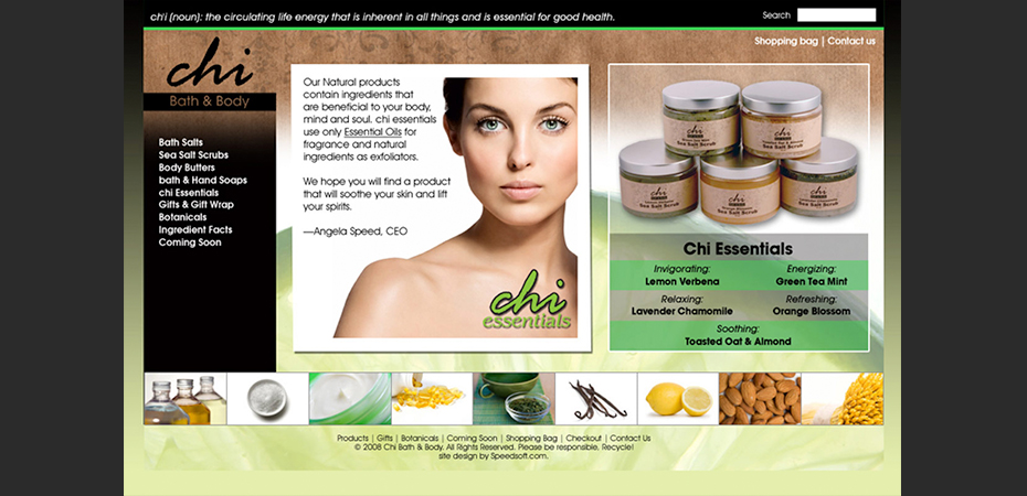 Chi Bath and Body Web Design