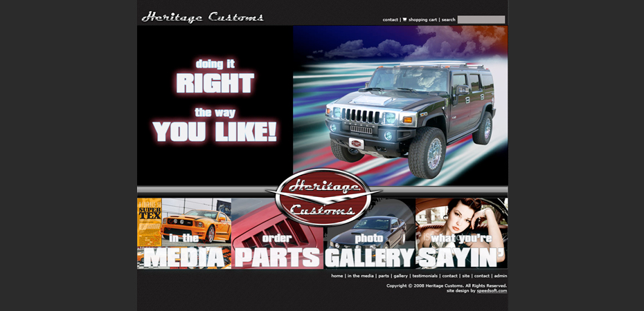 heritage Customs Web Design